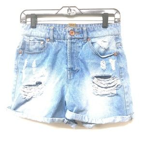 Celebrity Pink Jeans Distressed Jean Shorts